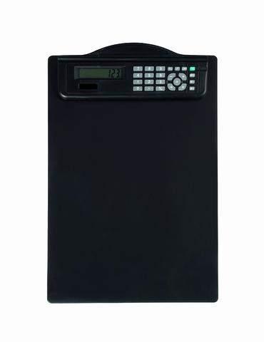 Klemmbrett MAUL mit Solar Taschenrechner A4 schwarz