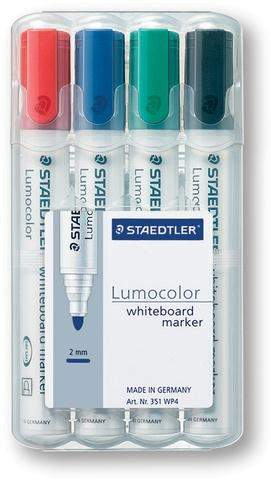 Boardmarker Staedtler 351 Rsp. 2mm 4er Set = 1 Etui