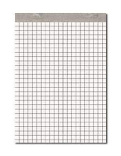 Notizblock A6 50 Blatt holzfrei weiß ohne Deckblatt kariert (1 Stück)
