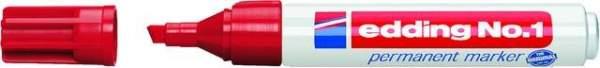 Permanentmarker Edding Nr. 1 nachfüllbar 1-5mm rot