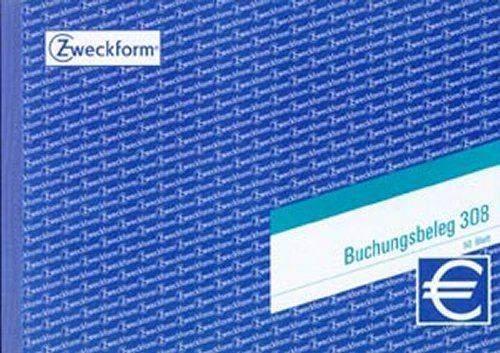 Buchungsbelegblock Zweckform 308 DIN A5 quer 50 Bl. / 1 St.