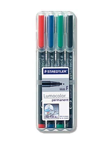 OHP-Stift Projektionsschreiber Lumocolor 314 B permanent 4er Set