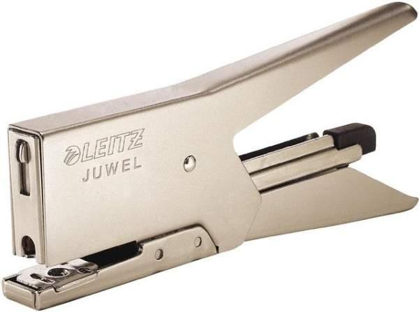 Heftzange Leitz 5557 JUWEL 2000 für Juwel 4 mm 12 Blatt Nickel