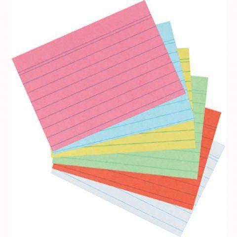 Karteikarten liniert DIN A7 gelb (1 Pckg. á 100 Stck.)