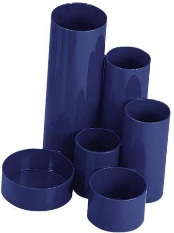 Schreibtischbutler Köcher Wedo Junior Kunststoff 6 Röhren blau