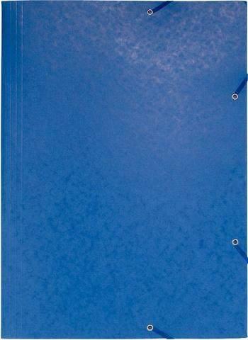 Sammelmappe Zeichnungsmappe Einschlagmappe Manilakarton Eckspanngummi A3 blau