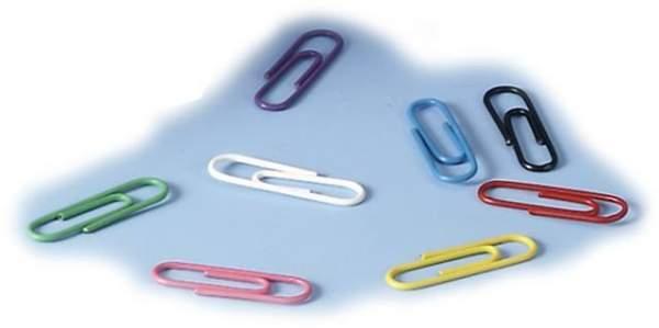 Büroklammern Briefklammern 26mm farbig sortiert Pckg. á 1000 Stück