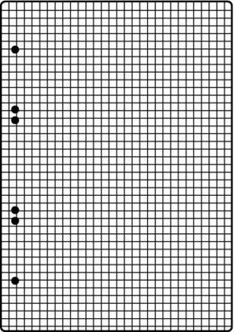 Ringbuch-Einlage A5 6fach Lochung 70g weiß kariert 50 Blatt