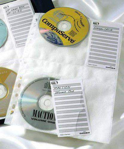 CD / DVD-Hüllen A4 f. 4 CD's o. DVD's gelocht Durable 5222 VE: 5 Stück