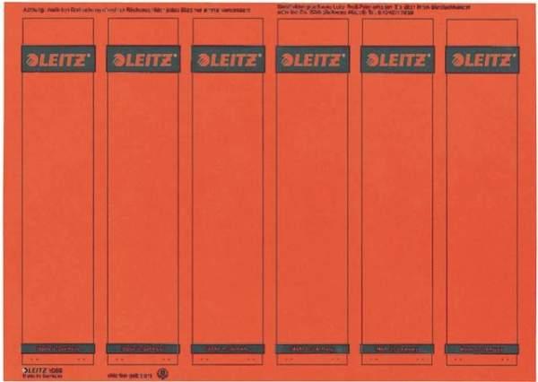 Rückenschilder Leitz 1686 PC-Beschriftung A4 schmal rot 150Stck.