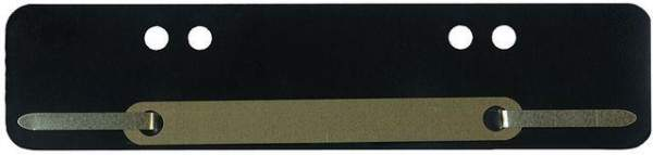 Heftstreifen Kunststoff A4 + A5 Metalldeckleiste braun 100 St.