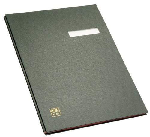Unterschriftsmappe Elba DIN A4 10 Fächer schwarz / 1 Stück