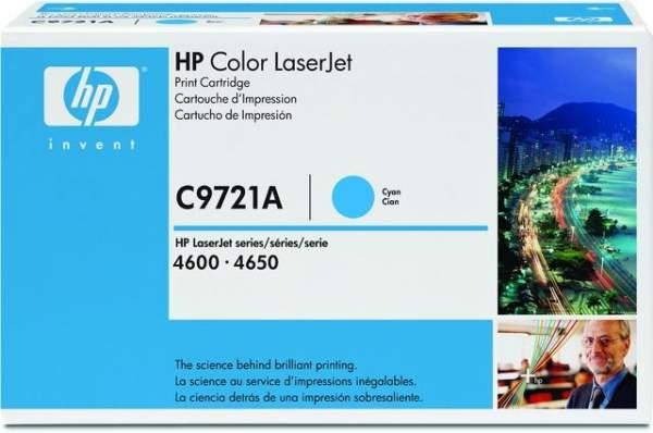 Toner HP C9721A cyan 8.000 Seiten f. LaserJet 4600
