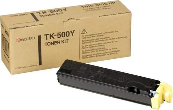 Toner Kyocera TK-500Y yellow 8.000 Seiten für FS-C5016N